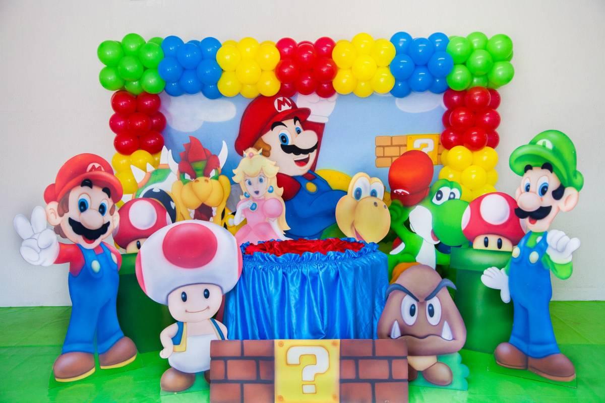 Melhores decorações festa aniversário super Mário