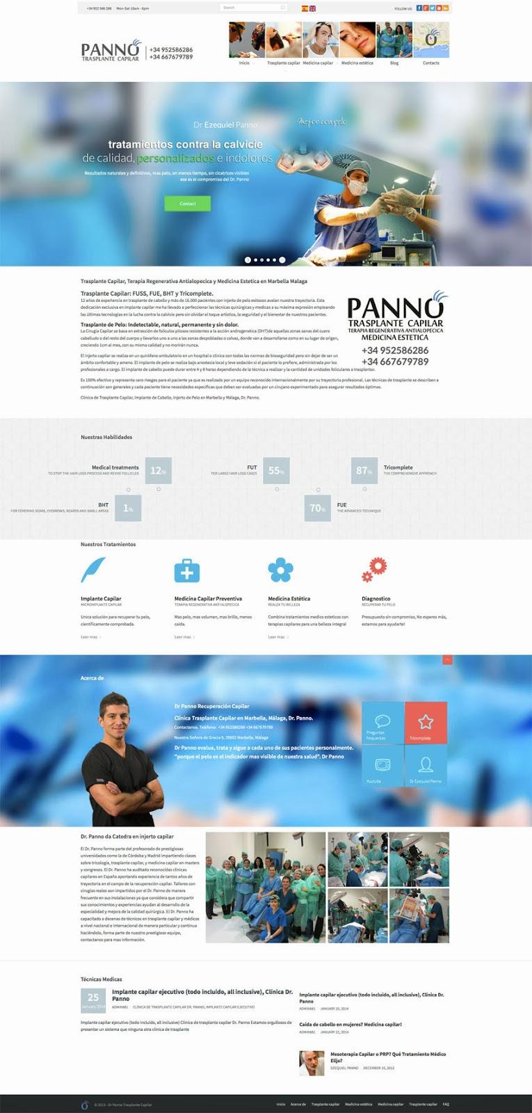 Dr Panno Trasplante Capilar y tratamientos capilar en Marbella and Malaga..