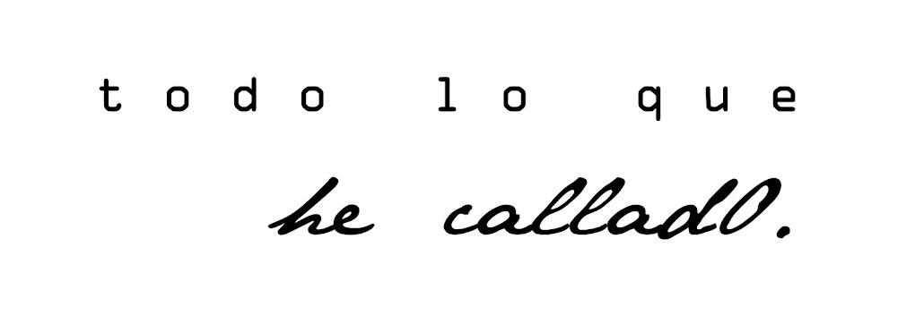 Los versos callados.