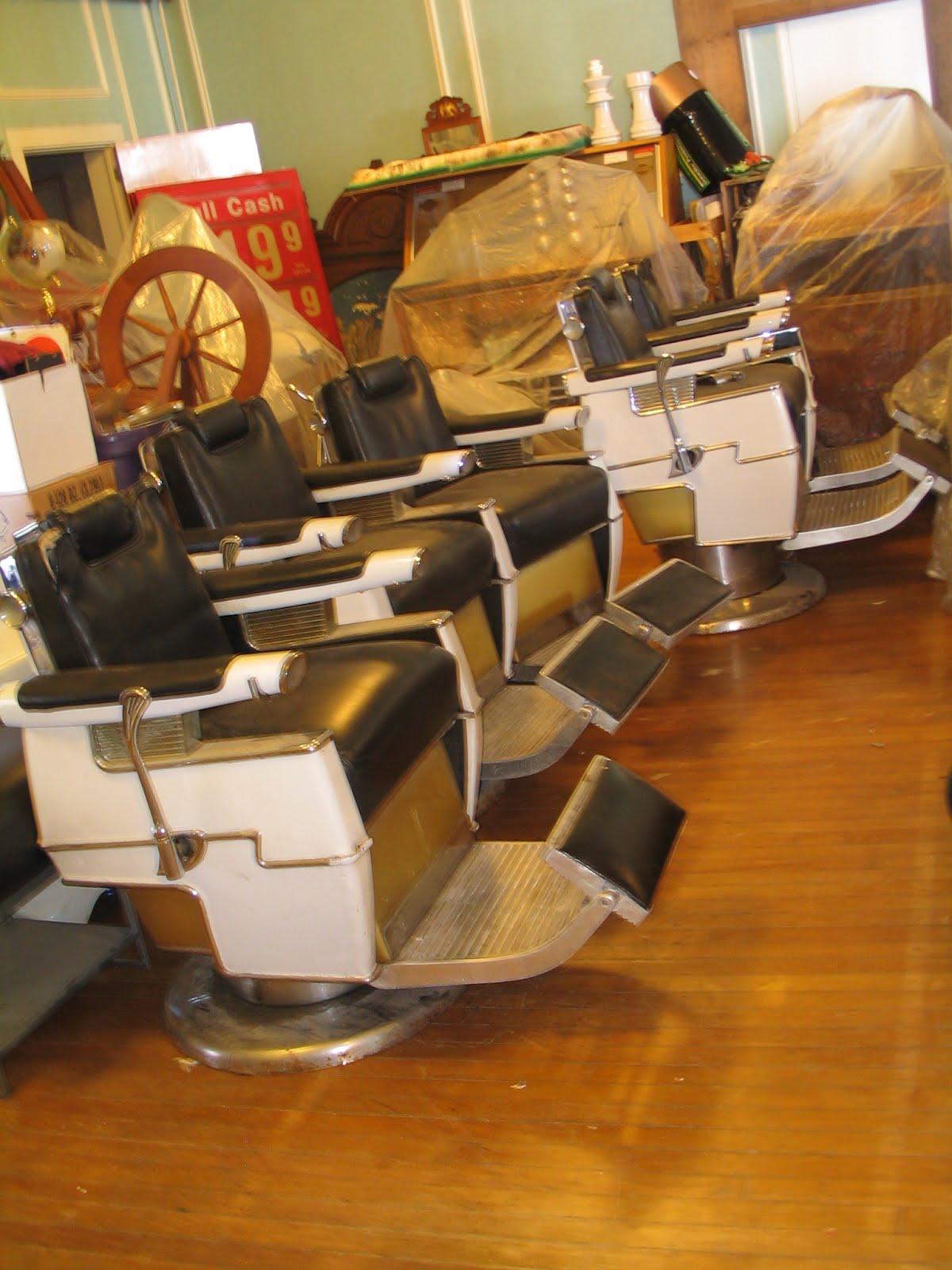 Pasternak Antiques & Modern Design: * 5 vintage belmont barber chairs ( +  one )* - Pasternak Antiques & Modern Design: * 5 Vintage Belmont Barber