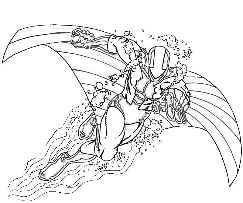 printable stingray character_coloring pages - Stingray Coloring Pages Printable