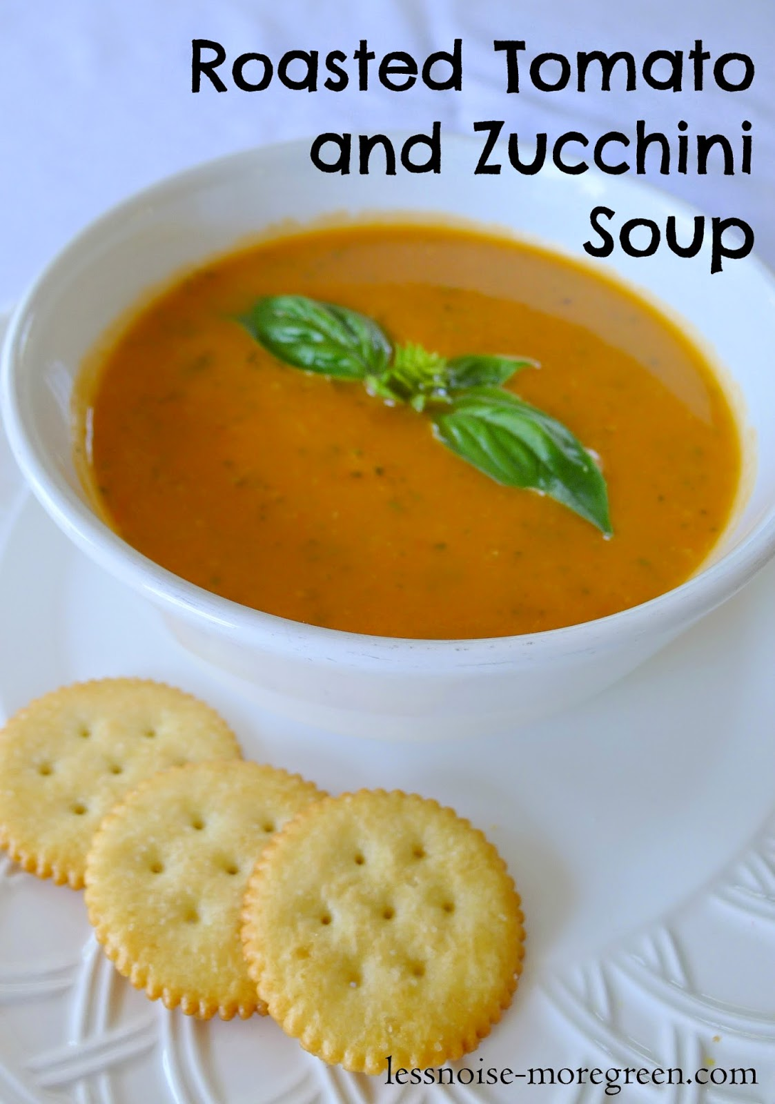 Roasted Tomato and Zucchini Soup, pinterest pin