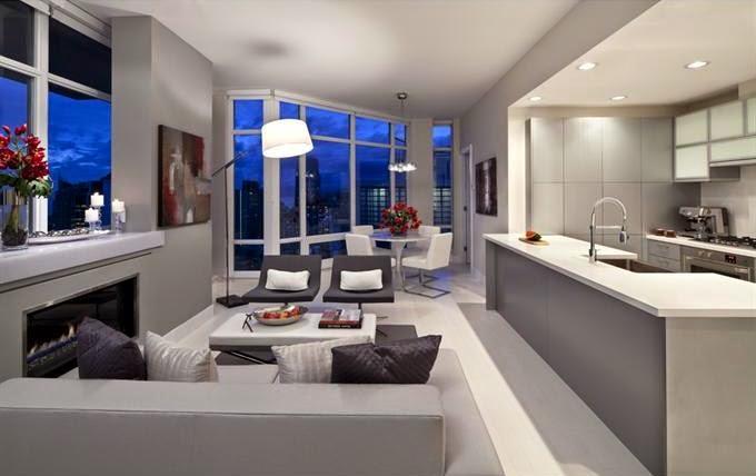Sofisticado ambiente de car cter urbano cocinas con estilo for Cocinas modernas blancas con peninsula