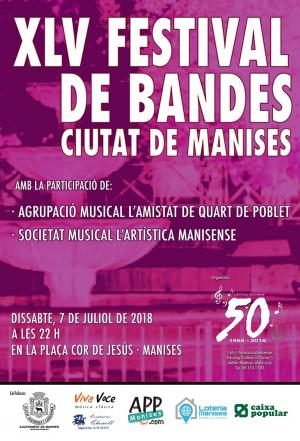 07.07.18 FESTIVAL DE BANDES EN LA PLAÇA DEL COR DE JESÚS