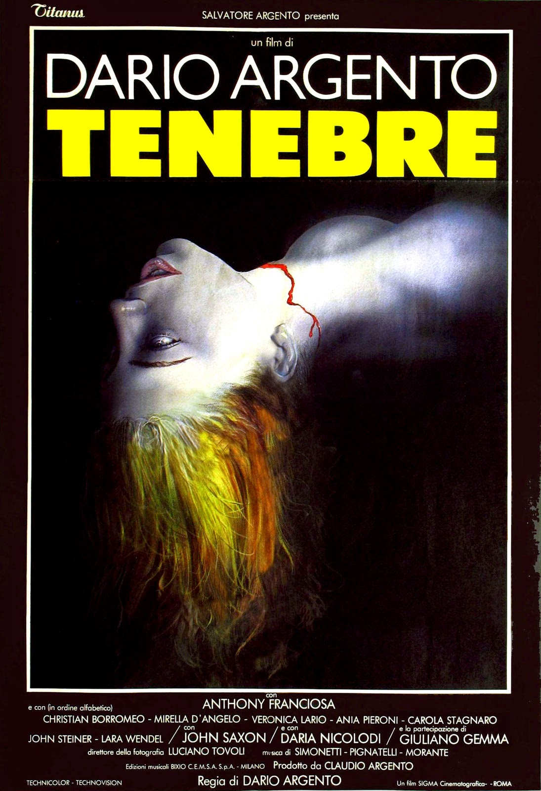 Creatures of Light and Darkness: Giallo July: Tenebre ...