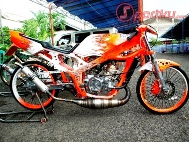 Foto Modifikasi Motor Ninja R Drag Race