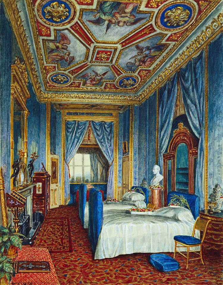 Gods and foolish grandeur prince albert and the blue room for The blue room