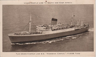 "Vintage postcard of the Union Castle Line, SS ""Rhodesia Castle"""