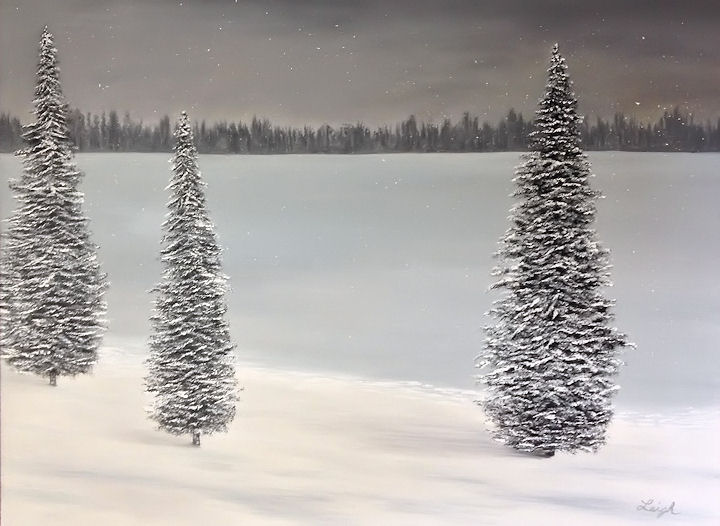 Frozen Dreams - 30 X 40 Oil on Canvas - $450