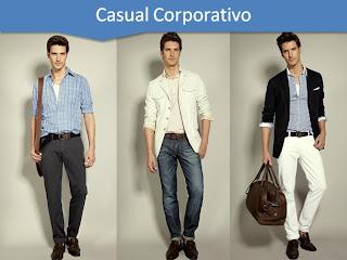Homens vestindo roupas casuais