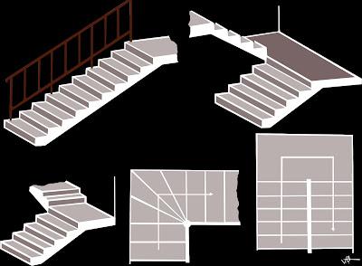 Diseños de escaleras en hormigón