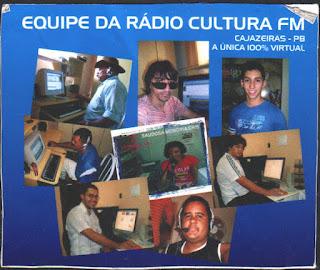 NOSSA RADIO CULTURA FM DE CAJAZEIRAS A UNICA 100 POR CENTO  VIRTUAL NOSSA EQUIPE  VER NO GOOGLE BRA