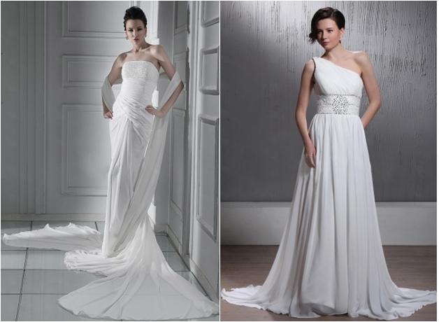 One Shoulder Beach Wedding Dress 3 Awesome Right Photo Amazing Empire