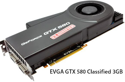 EVGA GTX 580 Classified 3GB GDDR5