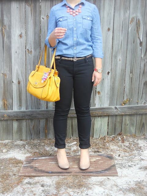 how to wear style a statement necklace casual fancy fall transition