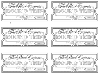Exhilarating image in free printable polar express tickets