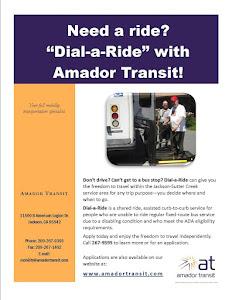 Dial A Ride - Amador Transit