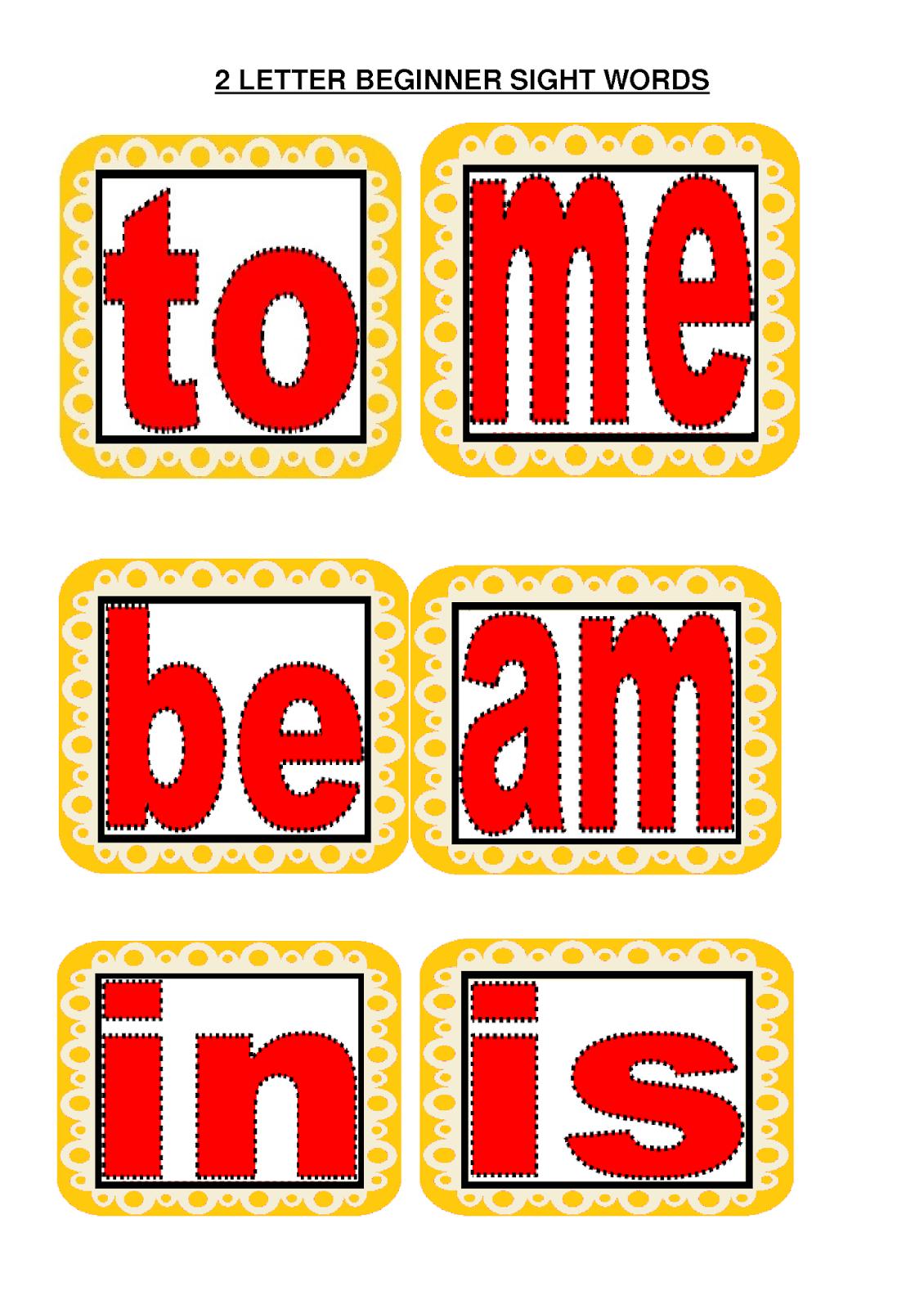 Kinder Smart Work 2 Letter Sight Words