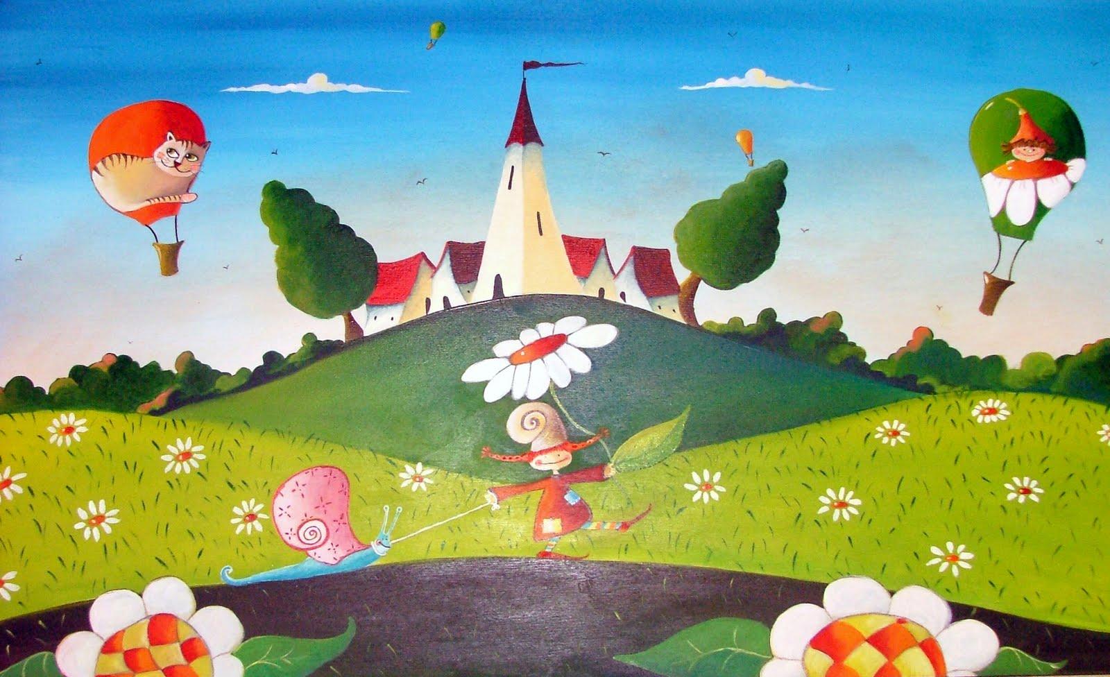 Sara pezzani dipinti for Sfondi naif