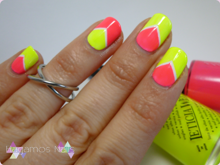 NAIL ART CHEVRON NEON. Hagamos Nails