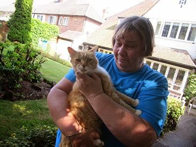 Jayne Everill's tearful reunion with cat Tigger