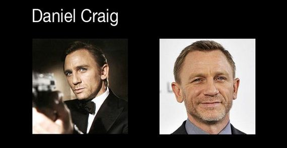 James Bond then and now pics