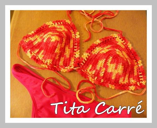 Bikini Coral - Crochet Moda grande