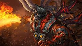 lucifer doom bringer dota 2 game hd wallpaper