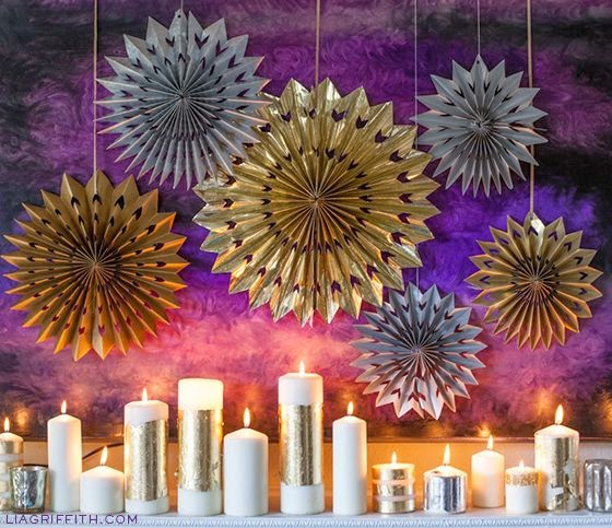 Quick And Stylish Oscars Viewing Party Decorating Ideas; paper medallions