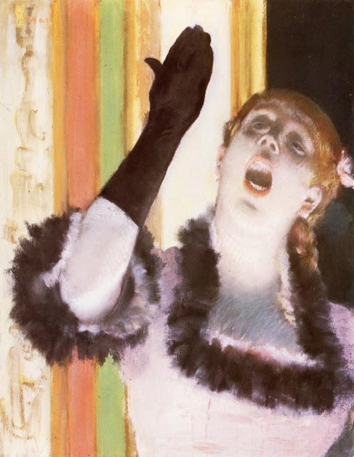 singer with a glove,edgar degas,art history