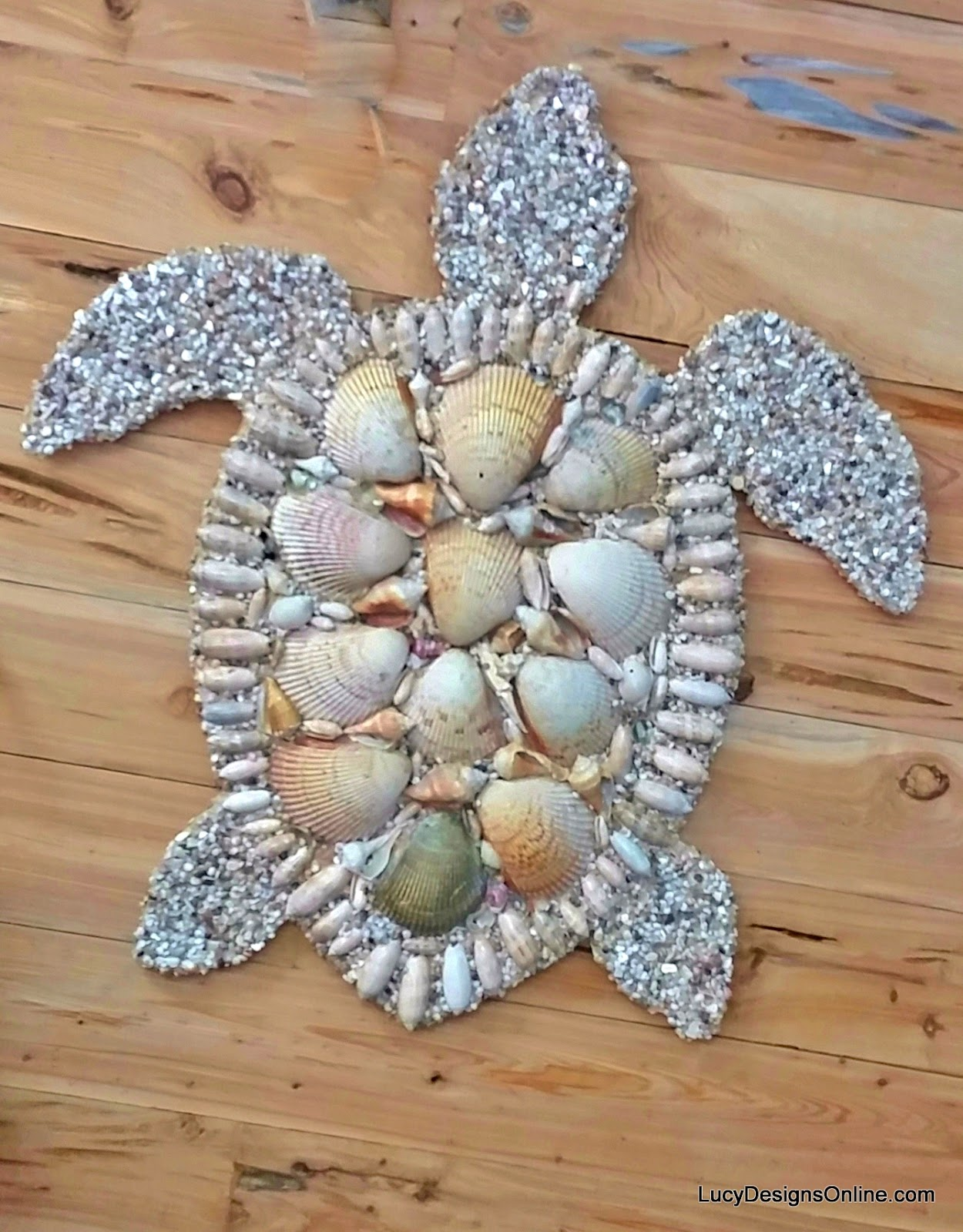 hand made sea turtle shell mosaic