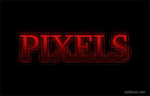 How To Create a Red Pixels Text Effect In Photoshop