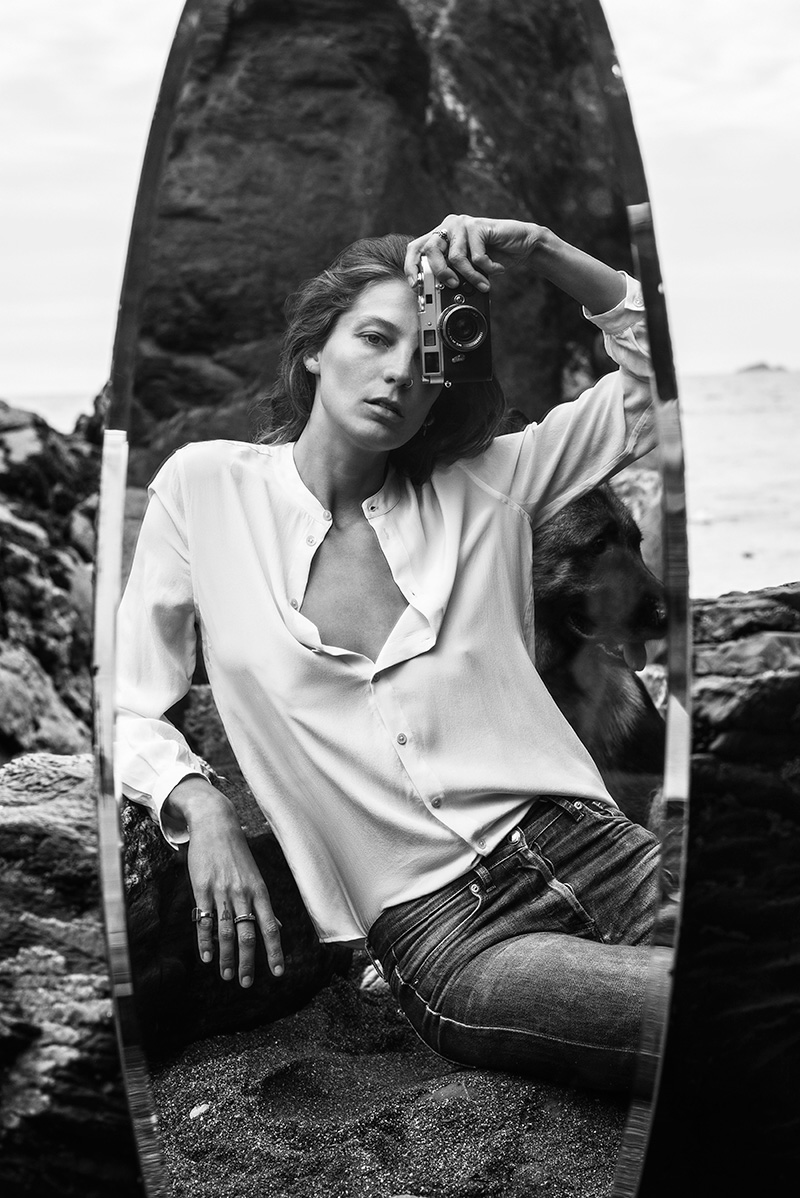 Daria Werbowy in Equipment Fall/Winter 2015 campaign (photography: Daria Werbowy) / best fashion ad campaigns fall/winter 2015 / via fashioned by love british fashion blog
