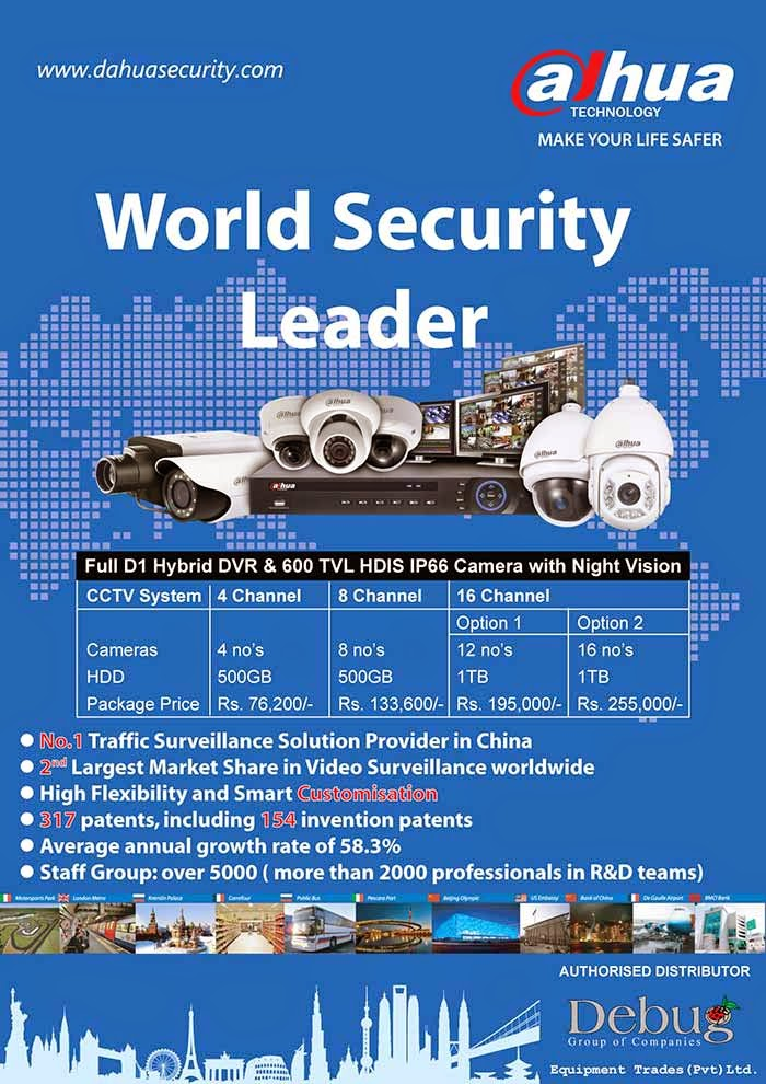 Dahua Technology is a world-leading and advanced video surveillance solution provider. The company's product portfolios include the advanced series of front-end, back-end, display, software as well as intelligent traffic solution. Dahua was the first company in China to launch 8-channel real-time embedded digital video recorder in 2001. Since then, the company keeps on investing and building strong R&D capabilities for new technology and innovation. With nearly investing 10% of sales revenue every year, Dahua has a more than 3000 professionals in R&D team, aiming to provide the cutting edge products with high quality and performance. To create win-win situation and to maximize customers' values are always our priorities.