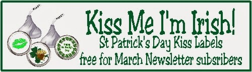 Celebrate St Patricks day with a printable that will have everyone asking you for kisses this holiday. Enjoy taking these cute kiss labels to school, the office, or stash them away for a special treat.