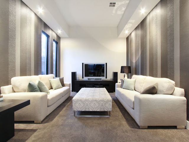 Picture of the movie room in small contemporary home in Australia
