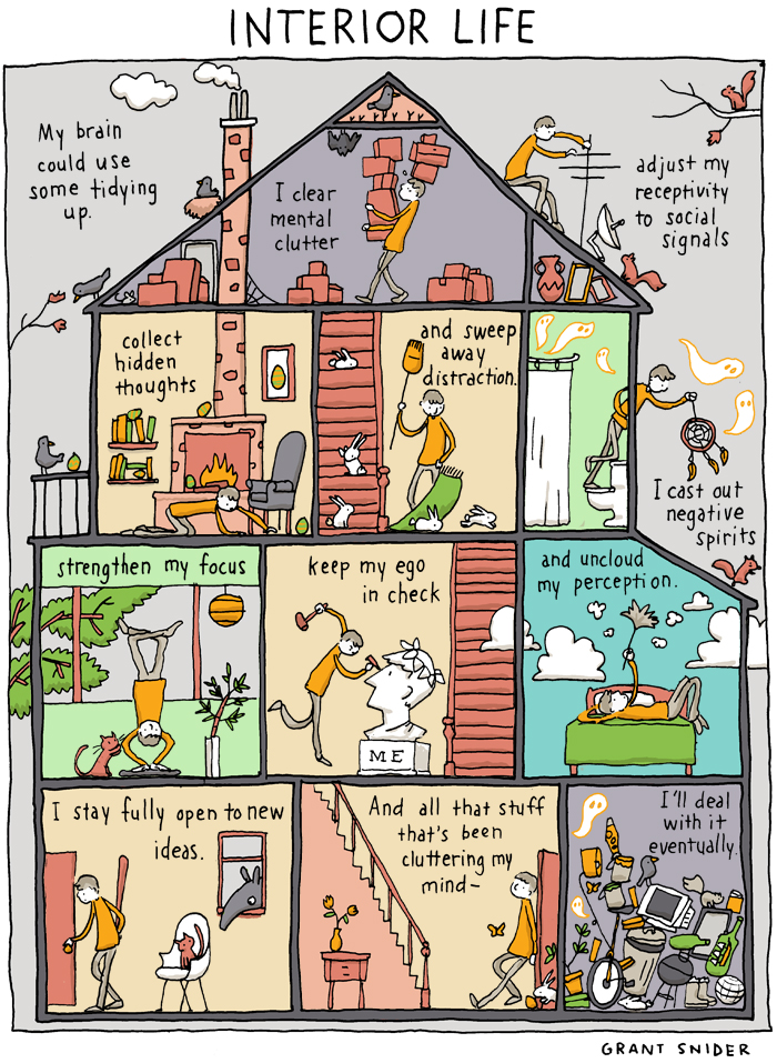 Interior Life by Grant Snider of Incidental Comics