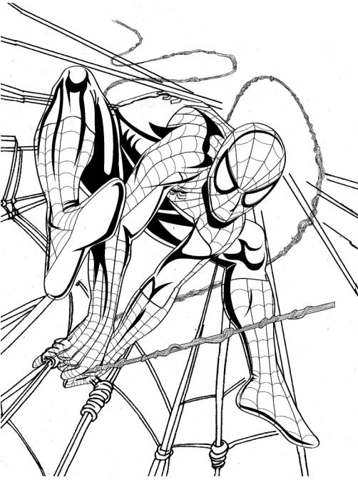 desenhos online para colorir e imprimir desenho do homem aranha