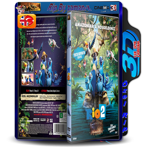 RiO 2 | 3D | 2014 | BLURAY RİP | AC3 DUAL 5.1 AUDiO | TR/ENG  1.8 GB
