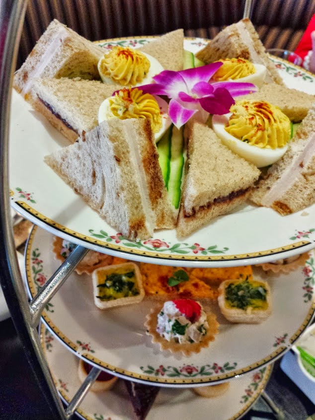 #outaboutnc afternoon tea at Washington Duke Inn.