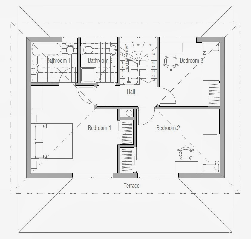 Australian house plans small australian house plan ch187 for Small home designs floor plans