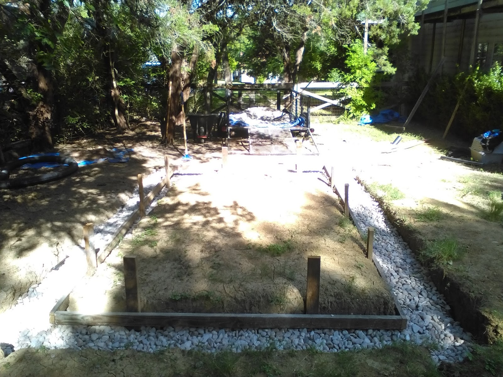 t brick shed finishing the french drain