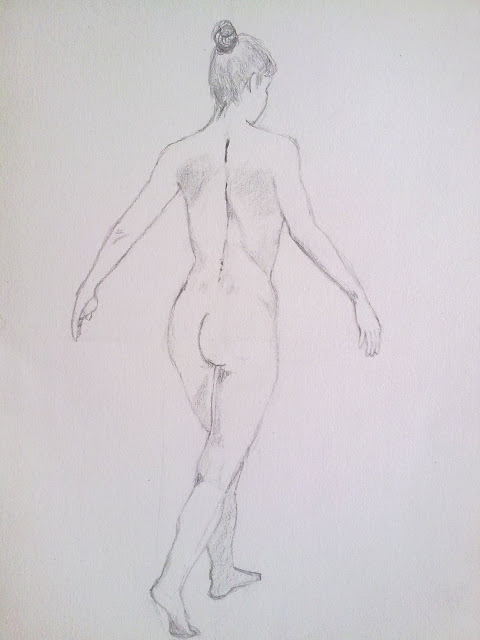 desnudo femenino espalda