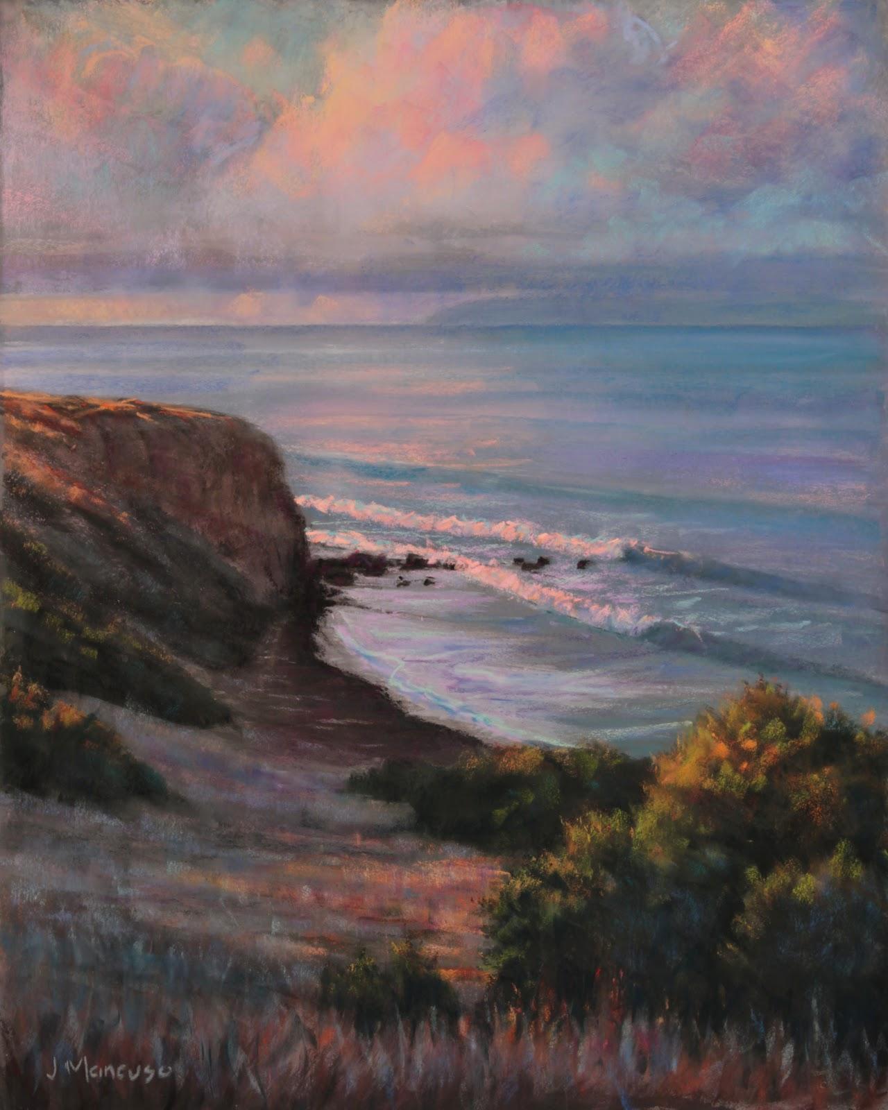 paintings by joe mancuso portuguese bend palos verdes 20x16