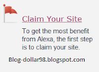 mengklaim blog
