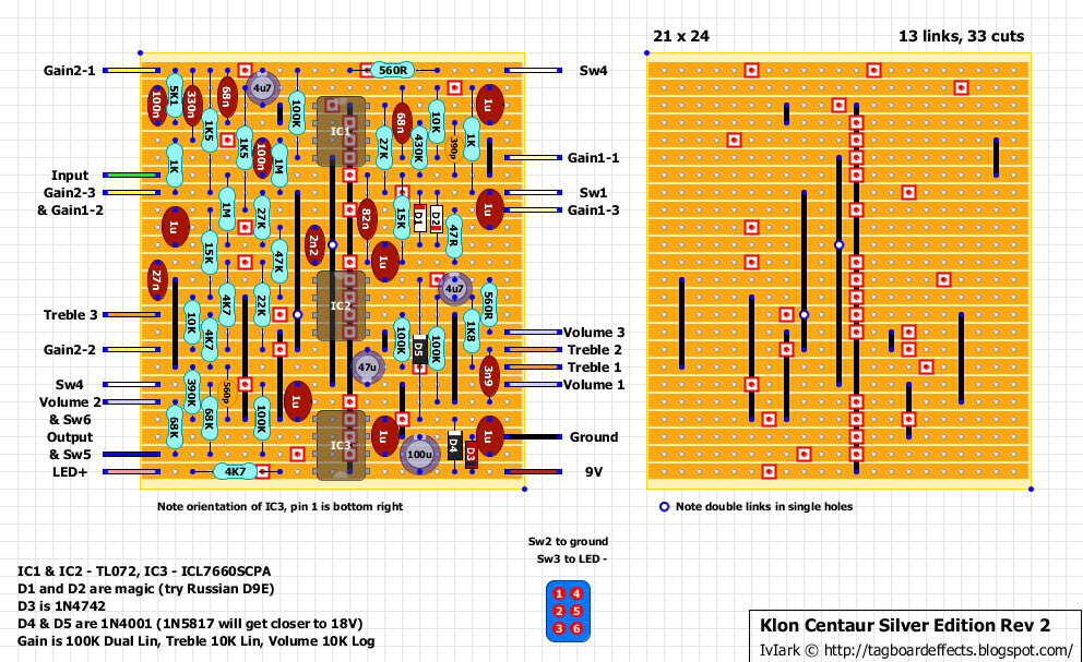 guitar fx layouts 2014 and the corrected schematic