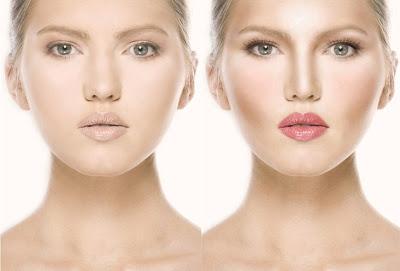 contorno iluminação modelaçao do rosto maquilhagem kim kardashian antes e depois