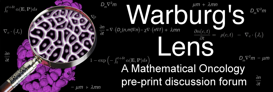 Warburg's Lens: A Mathematical oncology pre-print discussion forum