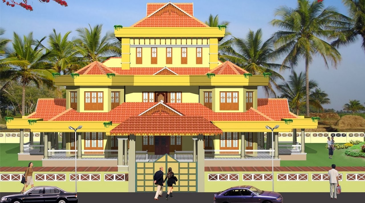 Download this Traditional Kerala House Elevation picture