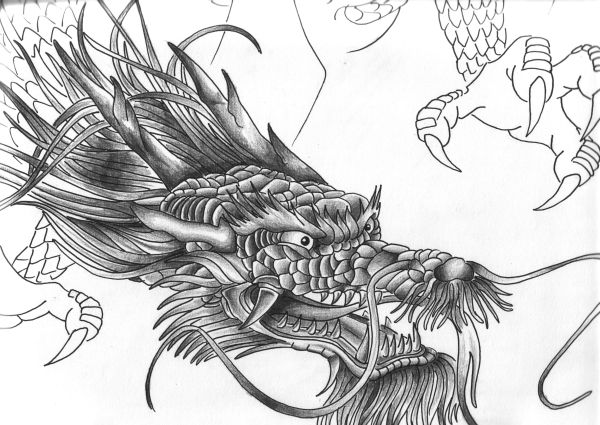 tribal dragon tattoo designs for men. Tribal Tattoo Designs For Men;